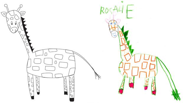 Comment dessiner une girafe les carnets de c leste - Comment dessiner des animaux facilement ...