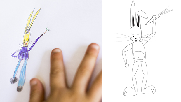 Comment dessiner un lapin les carnets de c leste - Comment dessiner une fourmi ...