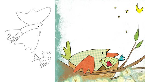 Comment dessiner un oiseau les carnets de c leste - Dessiner un oiseau ...