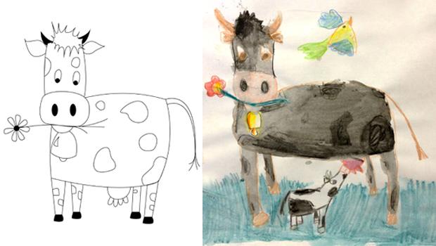 Comment dessiner une vache les carnets de c leste - Dessiner une vache facile ...
