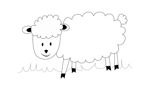 Comment dessiner un mouton les carnets de c leste - Mouton en dessin ...