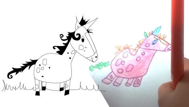 Comment dessiner une licorne les carnets de c leste - Barbie et la licorne ...