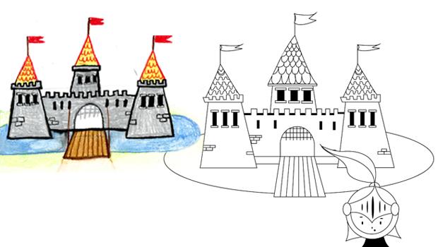 Comment dessiner un ch teau fort les carnets de c leste - Dessiner un chateau de princesse ...
