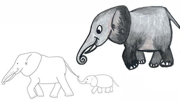Comment dessiner un l phant les carnets de c leste - Elephant en dessin ...