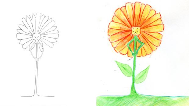 comment dessiner une fleur les carnets de c leste. Black Bedroom Furniture Sets. Home Design Ideas