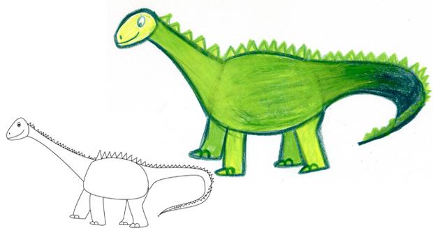 Comment dessiner un dinosaure les carnets de c leste - Dessiner dinosaure ...