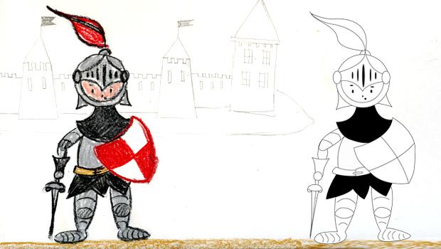 Comment dessiner un chevalier les carnets de c leste - Dessin armure ...