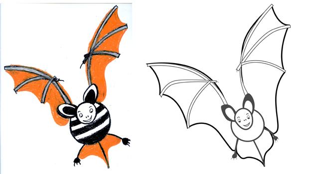 Comment dessiner une chauve souris les carnets de c leste - Chauve souris dessin ...